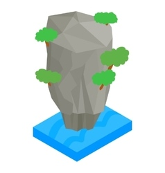Thailand island icon isometric 3d style vector