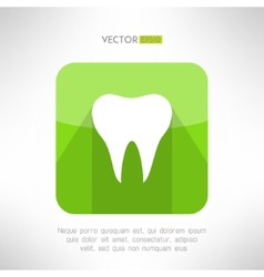 Tooth icon made in modern clean and simple flat vector