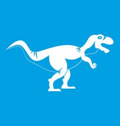 Tyrannosaur dinosaur icon white vector