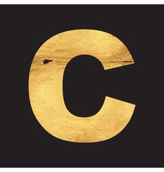 Uppercase letter C of the English alphabet vector