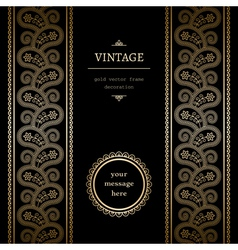 Vintage gold background vector image