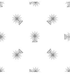 vintage jewellery pattern seamless vector image
