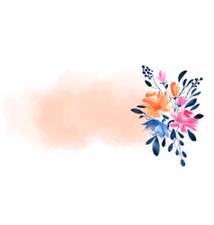 Watercolor flower background with space for text vector