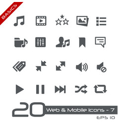 web and mobile icons-7 - basics vector image