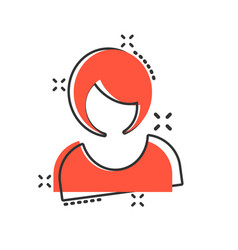 woman sign icon in comic style female avatar vector image