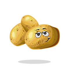 funny potato character cartoon mascot vector image vector image