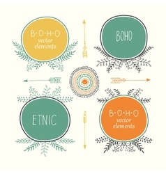 Hand drawn boho style frames with place for your vector image