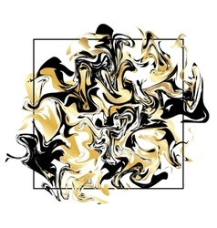 Marbling texture background Golden marble banner vector image