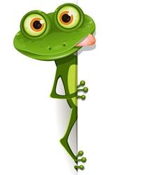 merry green frog vector image vector image