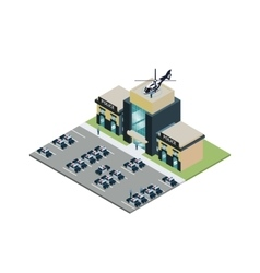 PIsometric police station vector image