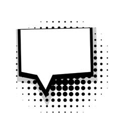 Template comic speech square bubble vector image