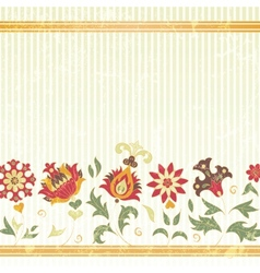 background with retro flowers vector image vector image