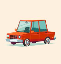 cartoon red car vector image
