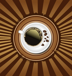 Cup of coffee retro background vector image vector image