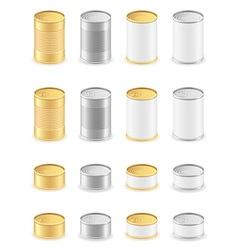 metal tin can 05 vector image
