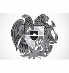 shield ornament vector image