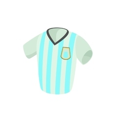 Argentina soccer jersey icon cartoon style vector image vector image