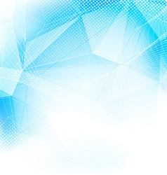 Crystal structure modern abstract blue layout vector image