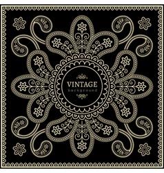 Gold decoration on black vector image