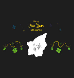 Happy new year theme with map of san marino vector