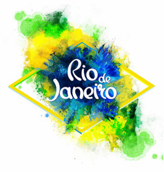 Inscription Rio de Janeiro on background vector image