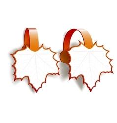 Maple Leaves advertising wobblers vector image vector image