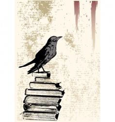 raven grunge background vector image vector image
