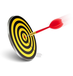 red dart hitting the target vector image