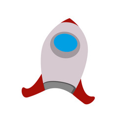 Rocket cartoon sci-fi vector