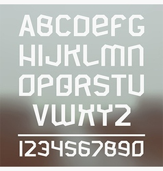 Sans serif font vector image