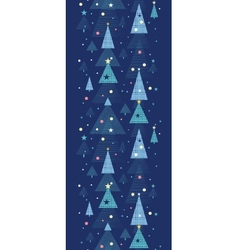 Abstract holiday Christmas trees vertical seamless vector image vector image