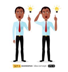 african american cartoon business man get vector image vector image