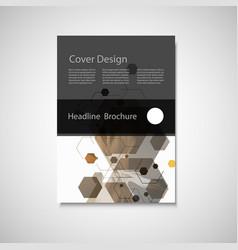 Annual report leaflet brochure flyer vector
