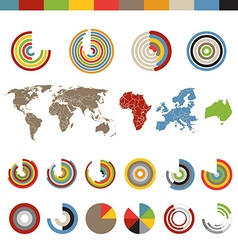 Different chart and indicators collection with the vector image vector image