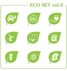 ecology icon set Vol 2 vector image