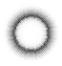 halftone circle frame round gradient vector image