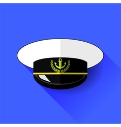 Seilor Hat Icon Isolated vector image vector image