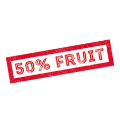 50 percent fruit rubber stamp vector