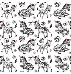 A seamless wallpaper of zebra vector
