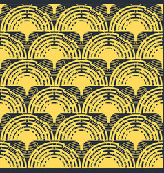 Abstract geometric round seamless pattern vector