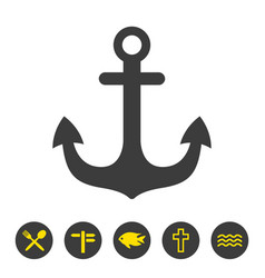 anchor icon on white background vector image