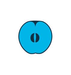 Apricot icon colored symbol premium quality vector