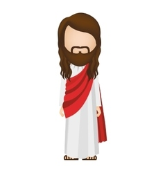 avatar figure human of jesus christ vector image
