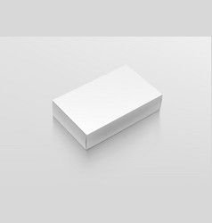 blank white product package box container pack vector image