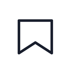 Bookmark black line icon popular media element vector