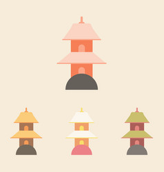 Chinese temple of heaven pagoda collection vector