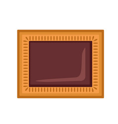 Choco biscuit icon flat style vector