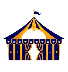 Circus blue tent vector image
