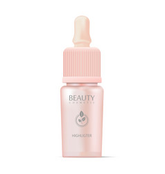 cosmetics highligter bottle with dropper vector image