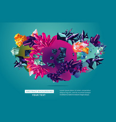 creative trendy background abstract 3d object vector image